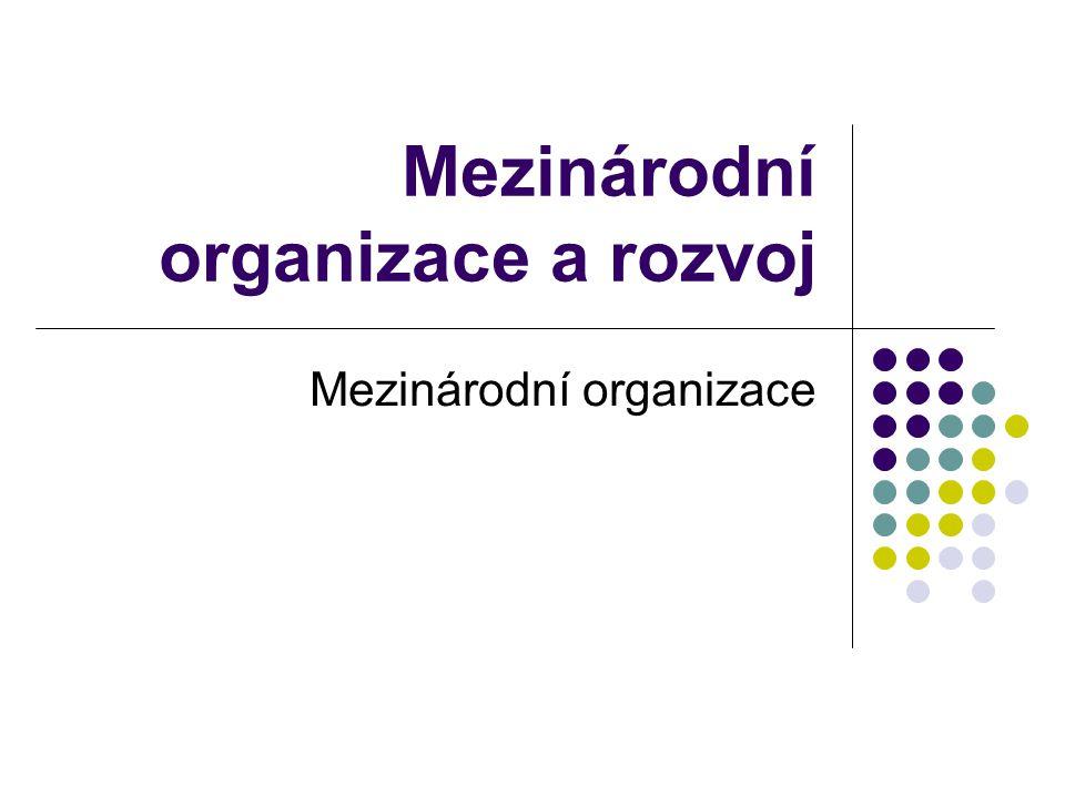 Mezinárodní organizace a rozvoj