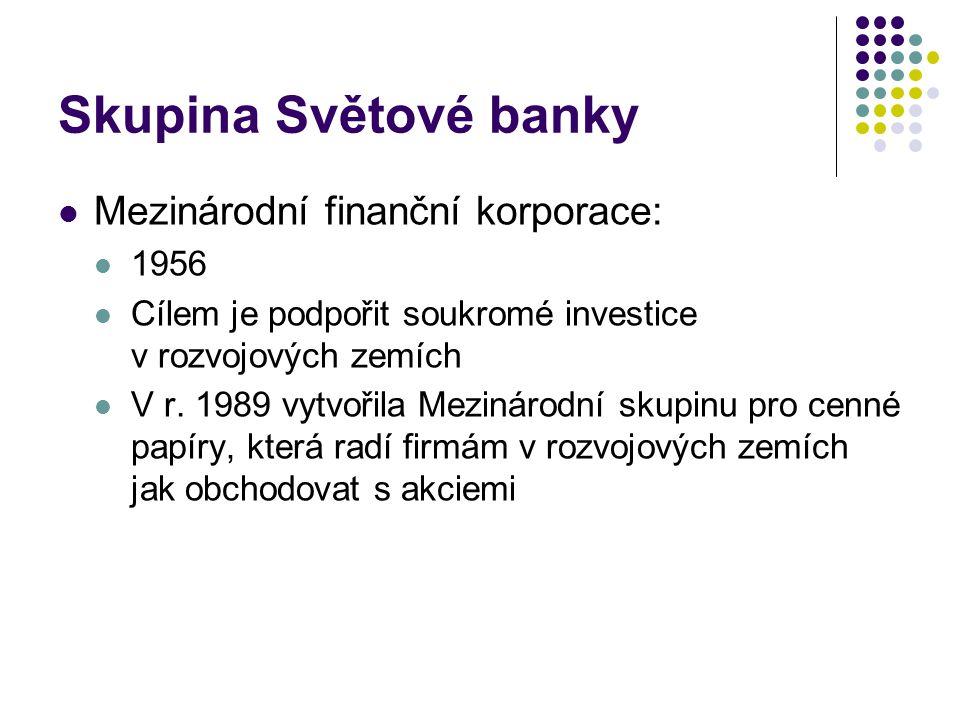 Skupina Světové banky Mezinárodní finanční korporace: 1956