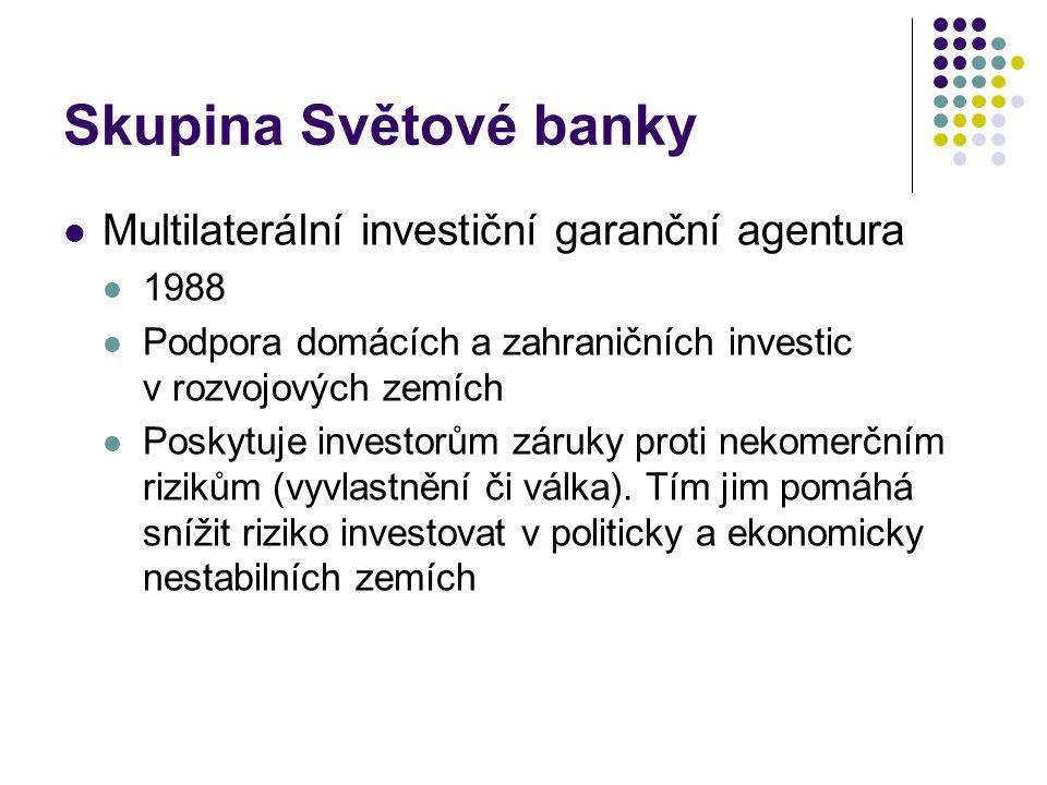 Skupina Světové banky Multilaterální investiční garanční agentura 1988