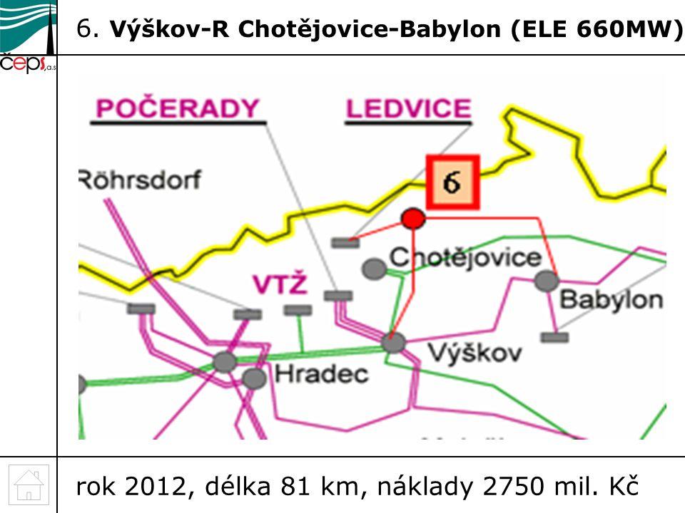 6. Výškov-R Chotějovice-Babylon (ELE 660MW)