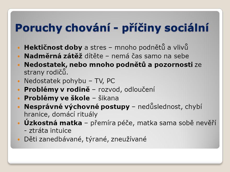Poruchy chování - příčiny sociální