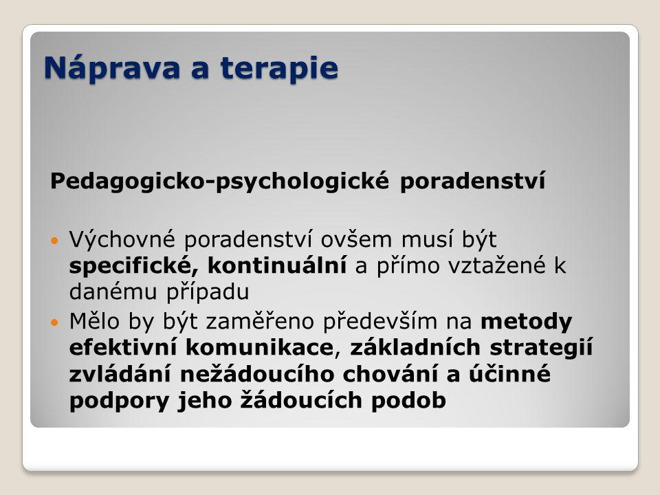 Náprava a terapie Pedagogicko-psychologické poradenství