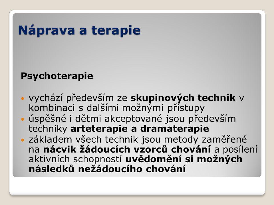 Náprava a terapie Psychoterapie