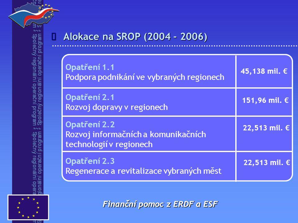 î Alokace na SROP (2004 - 2006) Opatření 1.1