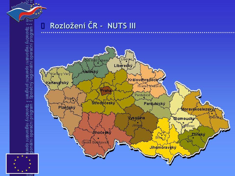 î Rozložení ČR - NUTS III