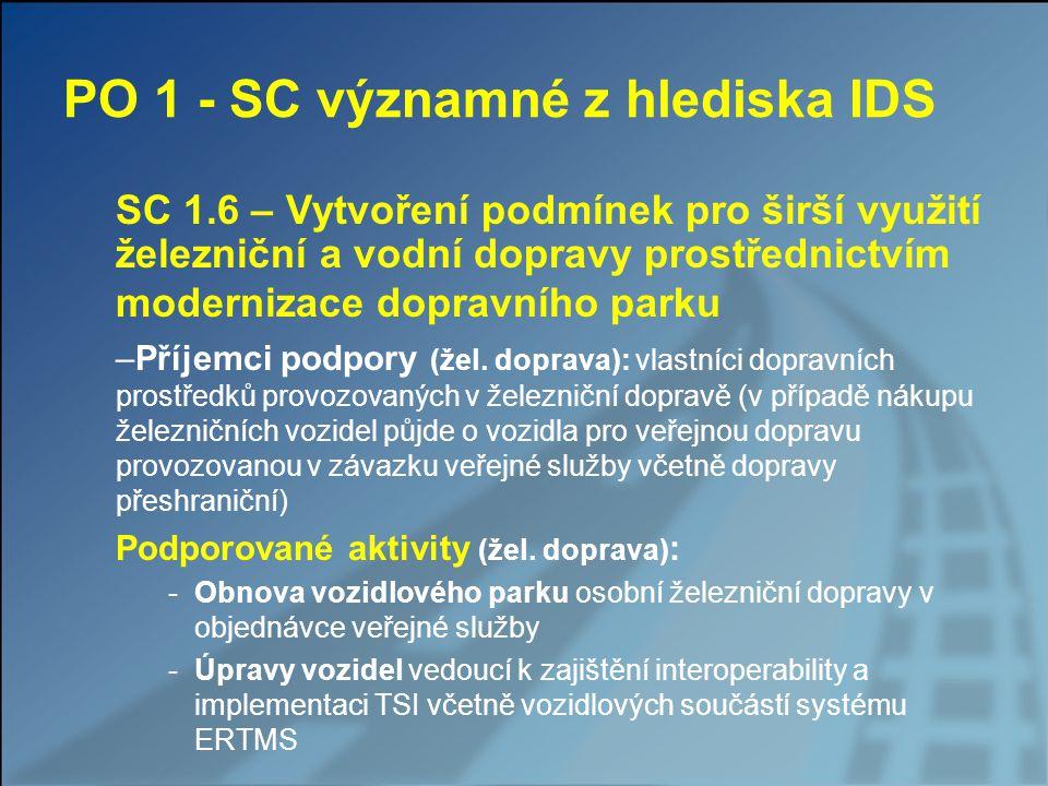 PO 1 - SC významné z hlediska IDS