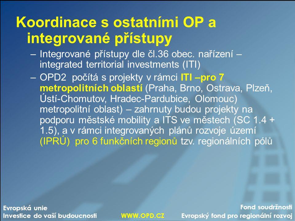Koordinace s ostatními OP a integrované přístupy