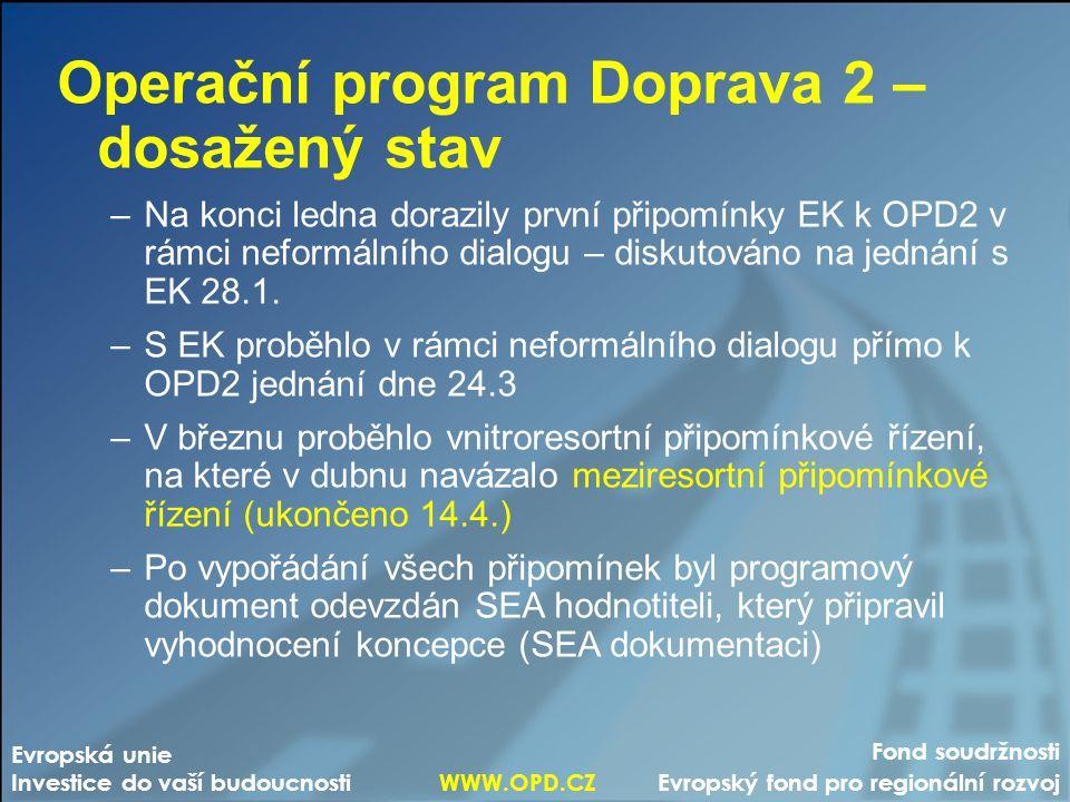 Operační program Doprava 2 – dosažený stav