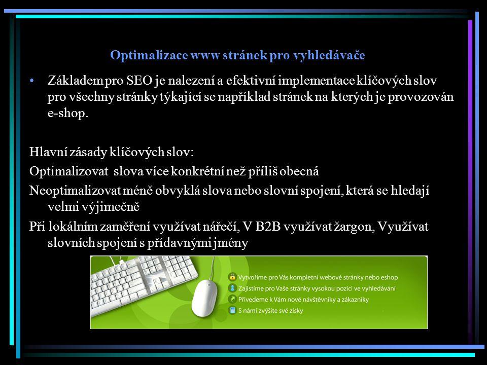 Optimalizace www stránek pro vyhledávače