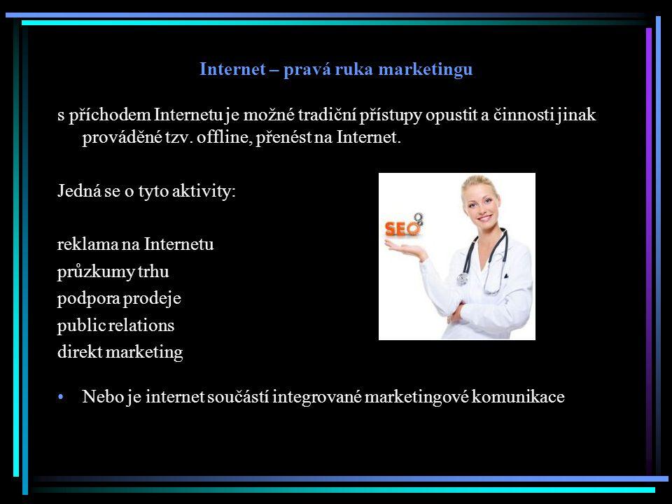 Internet – pravá ruka marketingu