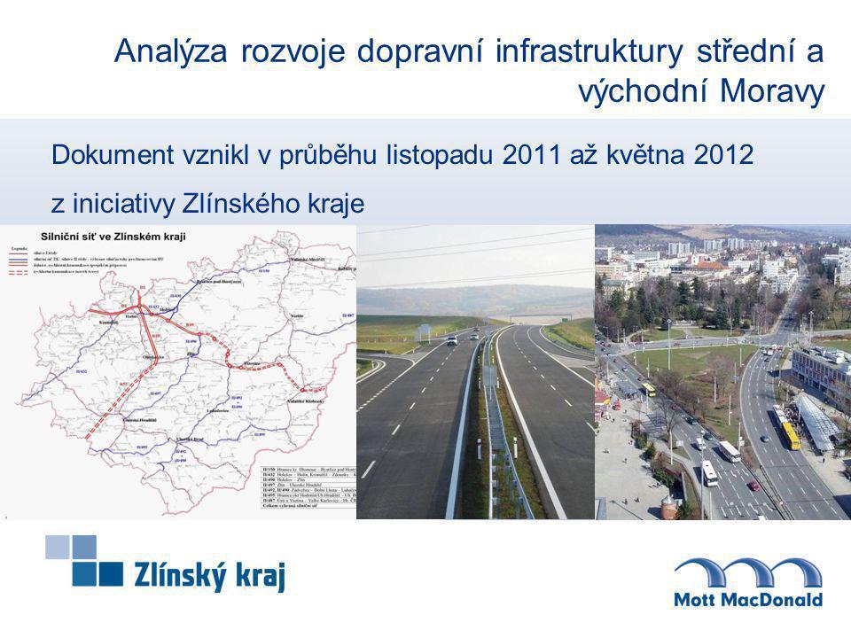 Analýza rozvoje dopravní infrastruktury střední a východní Moravy