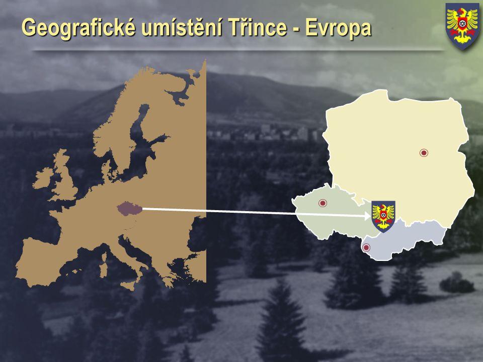 Geografické umístění Třince - Evropa