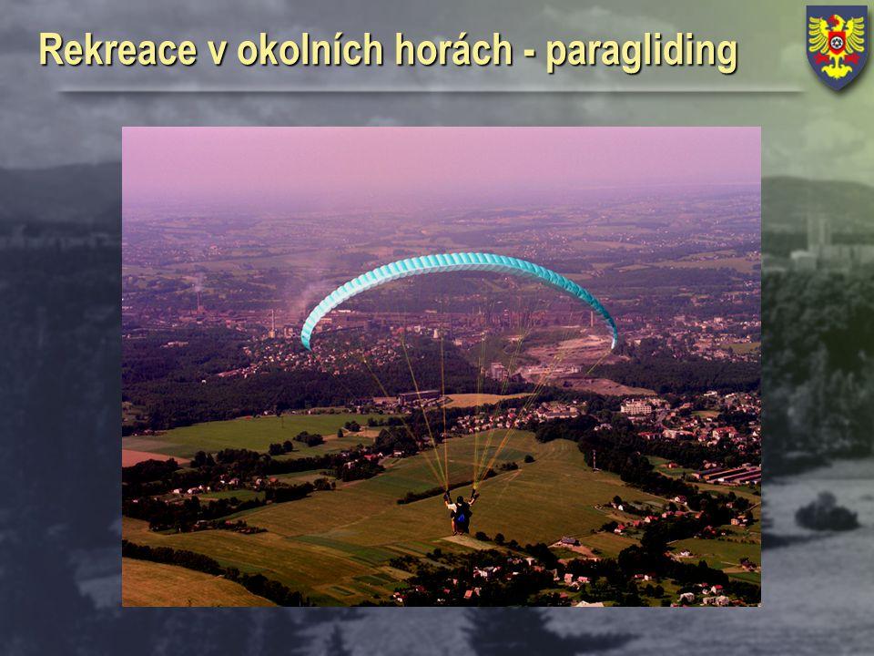 Rekreace v okolních horách - paragliding