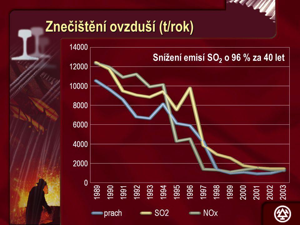 Znečištění ovzduší (t/rok)