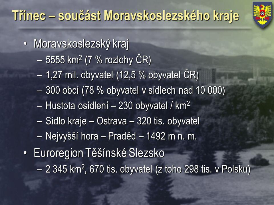 Třinec – součást Moravskoslezského kraje