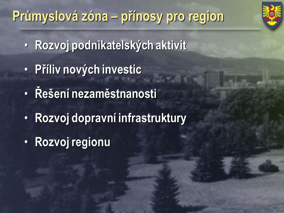 Průmyslová zóna – přínosy pro region