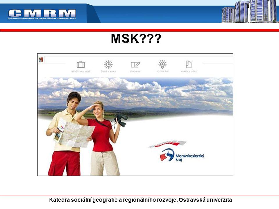 MSK Katedra sociální geografie a regionálního rozvoje, Ostravská univerzita 17