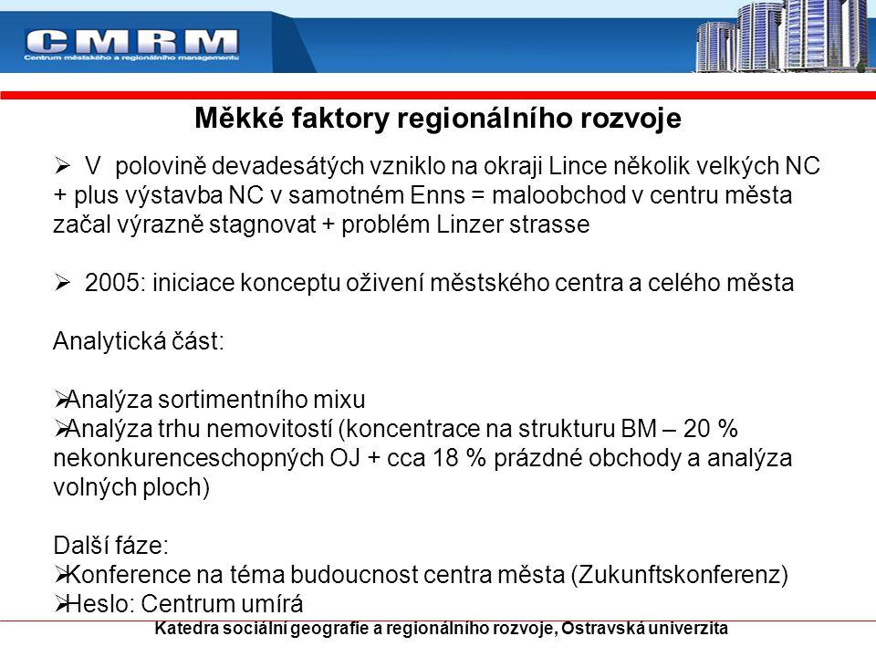Měkké faktory regionálního rozvoje