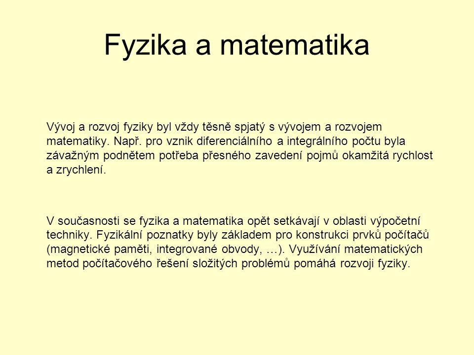 Fyzika a matematika