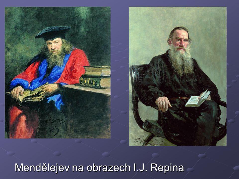 Mendělejev na obrazech I.J. Repina