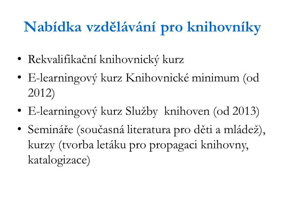 Nabídka vzdělávání pro knihovníky