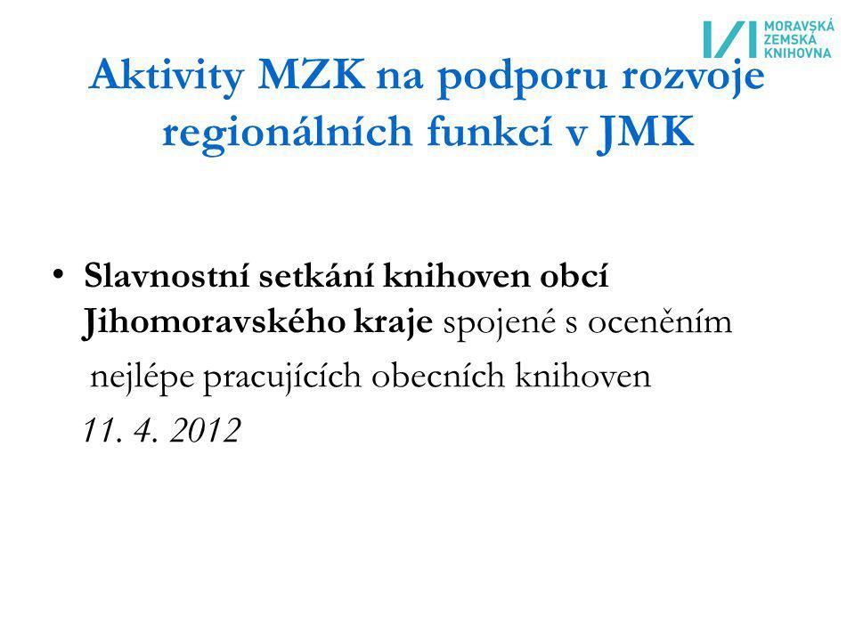 Aktivity MZK na podporu rozvoje regionálních funkcí v JMK