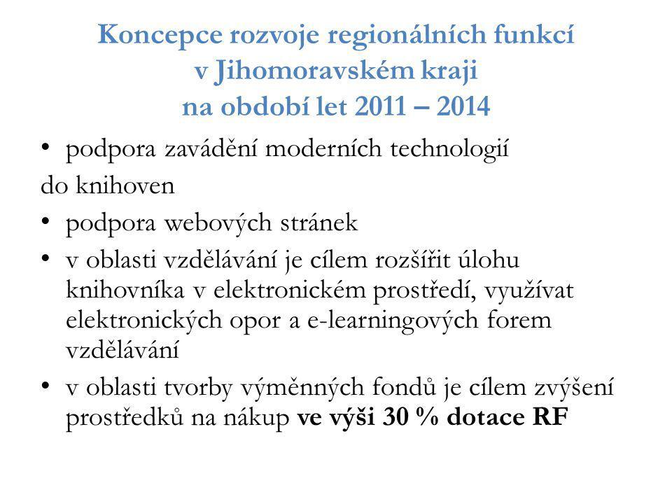 Koncepce rozvoje regionálních funkcí v Jihomoravském kraji na období let 2011 – 2014
