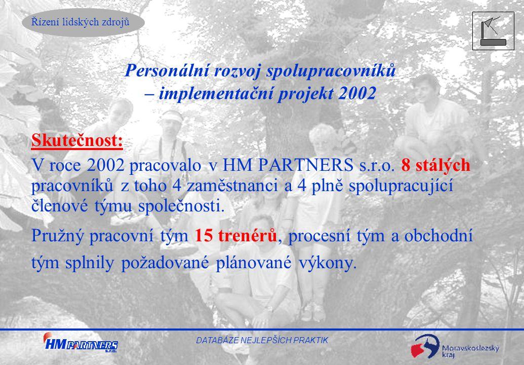 Personální rozvoj spolupracovníků – implementační projekt 2002