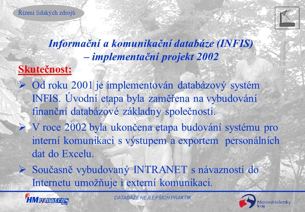 Informační a komunikační databáze (INFIS) – implementační projekt 2002