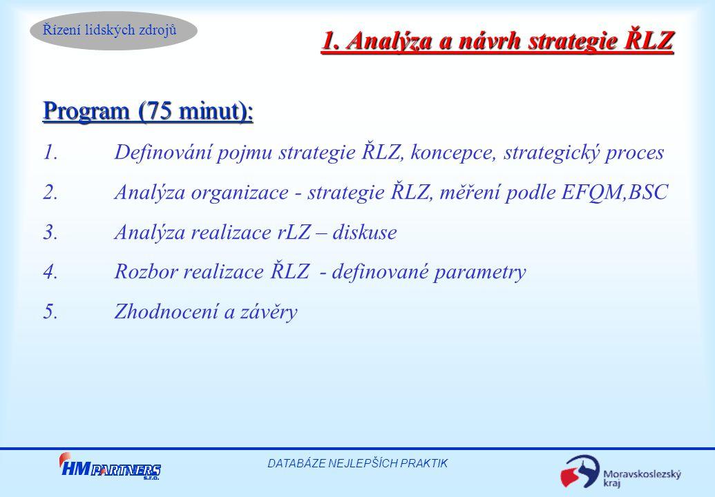1. Analýza a návrh strategie ŘLZ