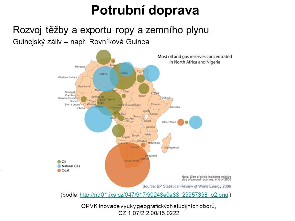 Potrubní doprava Rozvoj těžby a exportu ropy a zemního plynu