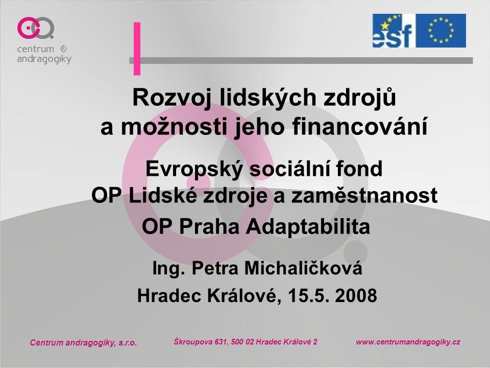Ing. Petra Michaličková Hradec Králové, 15.5. 2008