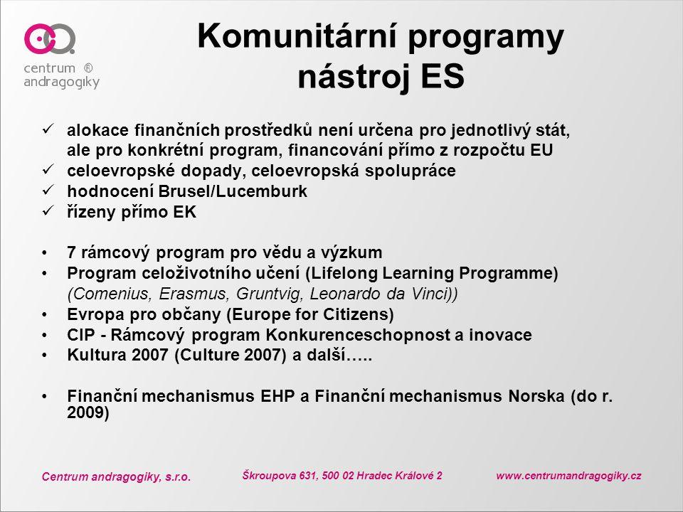 Komunitární programy nástroj ES