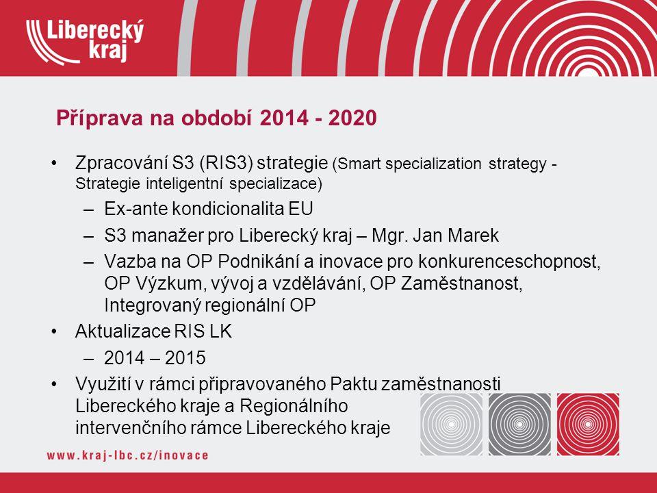 Příprava na období 2014 - 2020 Zpracování S3 (RIS3) strategie (Smart specialization strategy - Strategie inteligentní specializace)