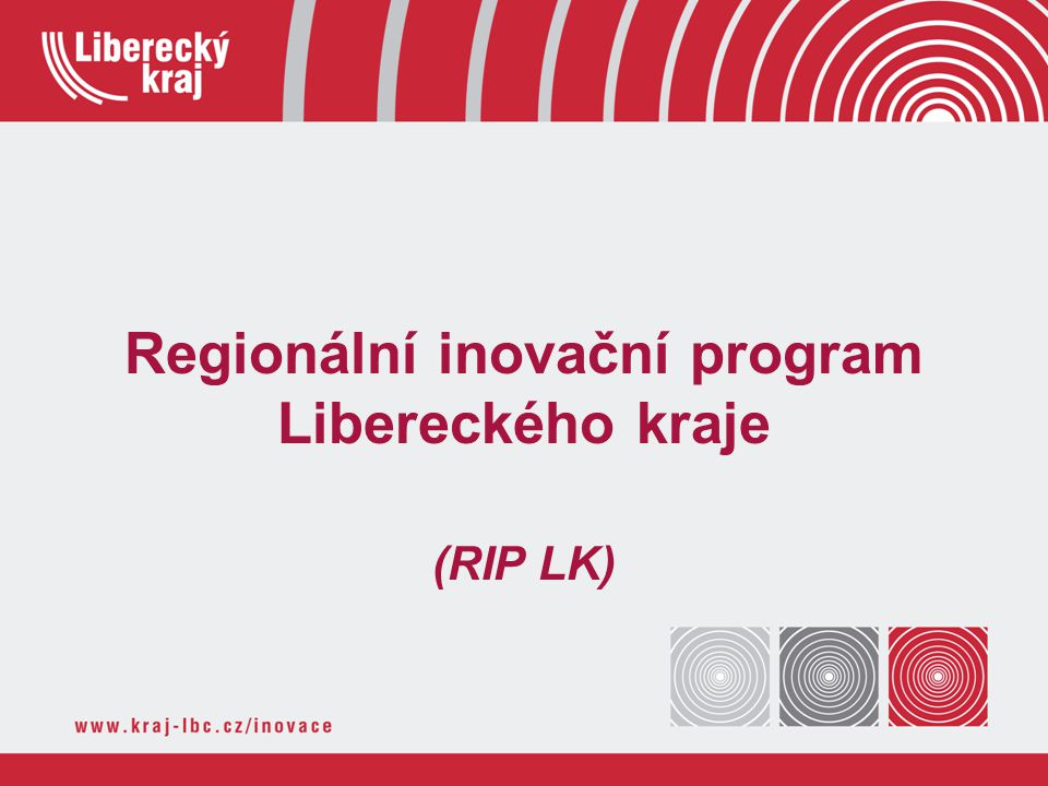 Regionální inovační program Libereckého kraje