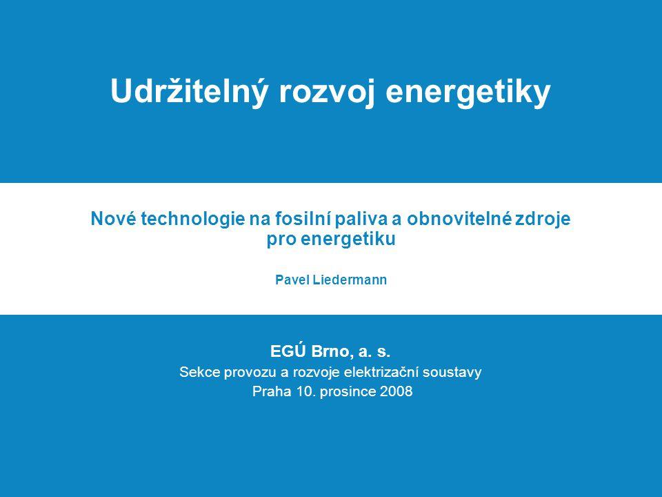 Udržitelný rozvoj energetiky