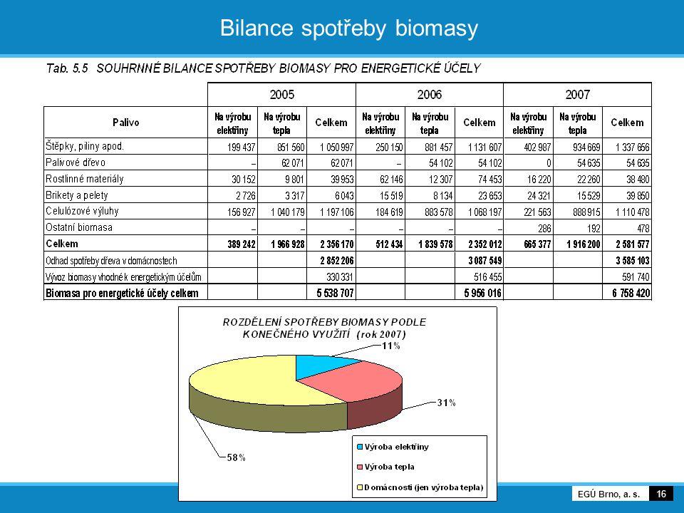 Bilance spotřeby biomasy