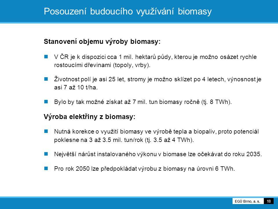 Posouzení budoucího využívání biomasy