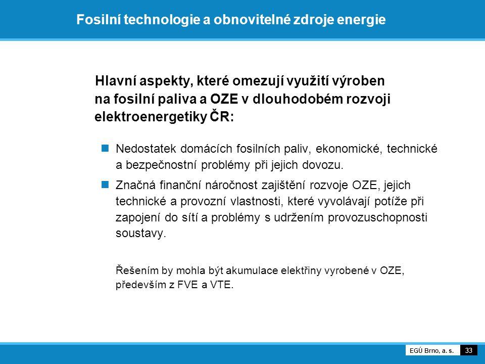 Fosilní technologie a obnovitelné zdroje energie