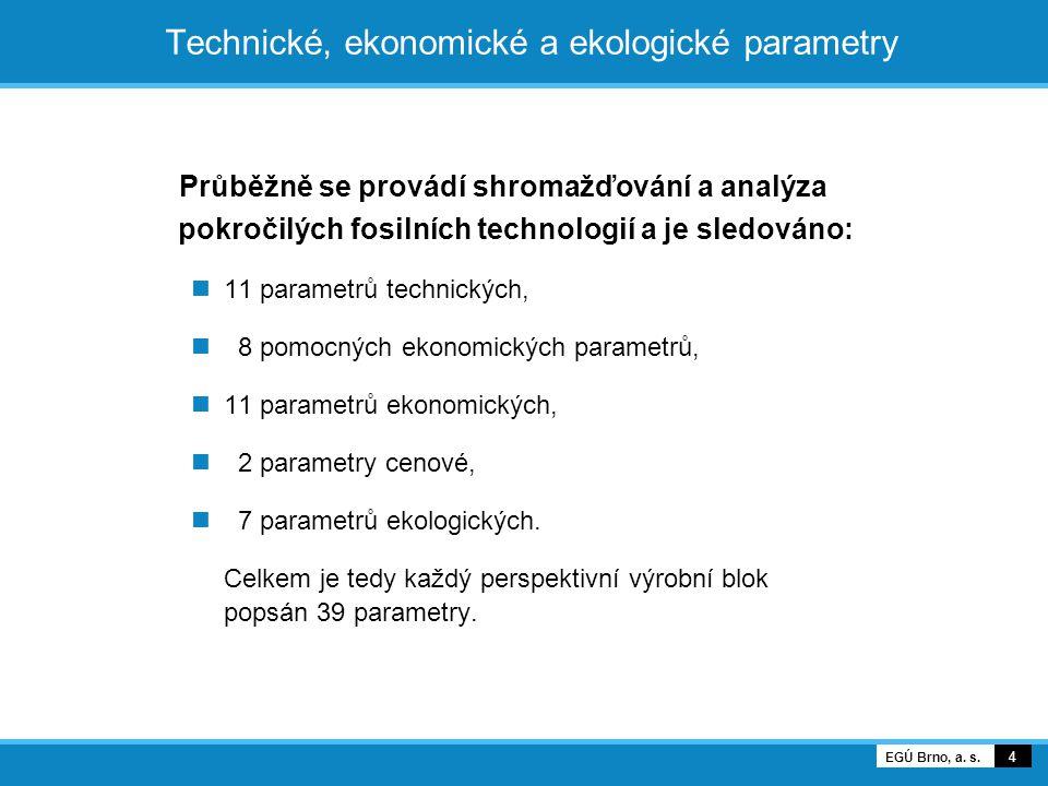 Technické, ekonomické a ekologické parametry
