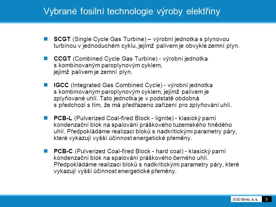 Vybrané fosilní technologie výroby elektřiny