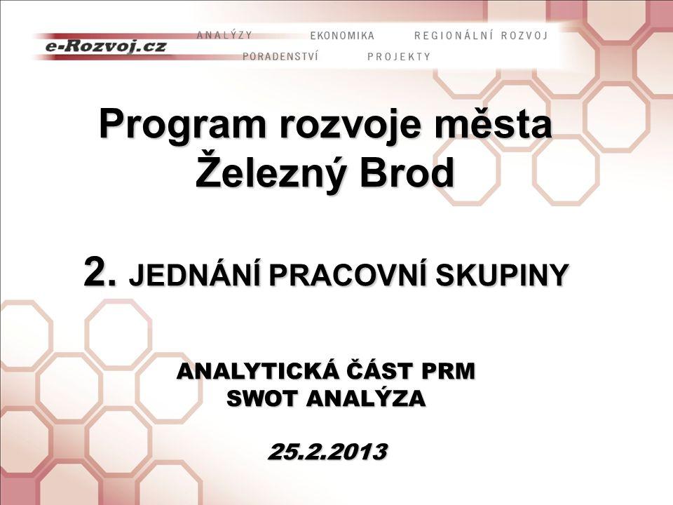 Program rozvoje města Železný Brod 2. JEDNÁNÍ PRACOVNÍ SKUPINY
