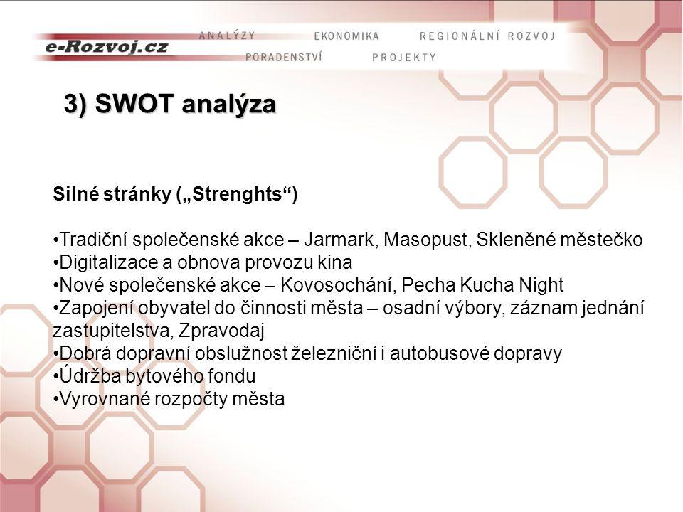 """3) SWOT analýza Silné stránky (""""Strenghts )"""