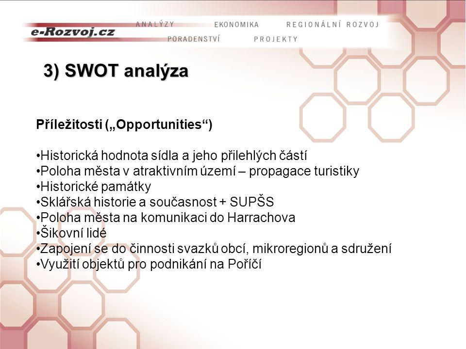 """3) SWOT analýza Příležitosti (""""Opportunities )"""