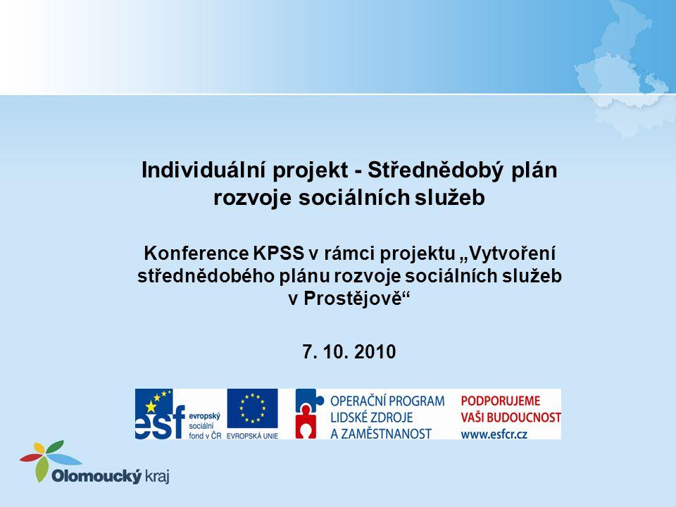 Individuální projekt - Střednědobý plán rozvoje sociálních služeb