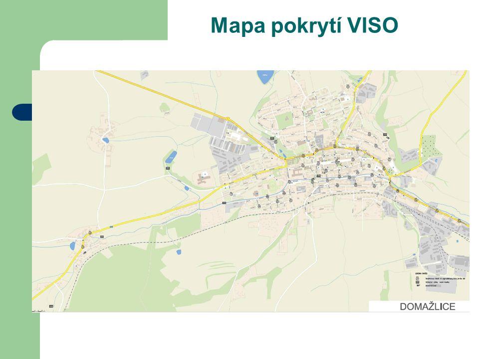 Mapa pokrytí VISO