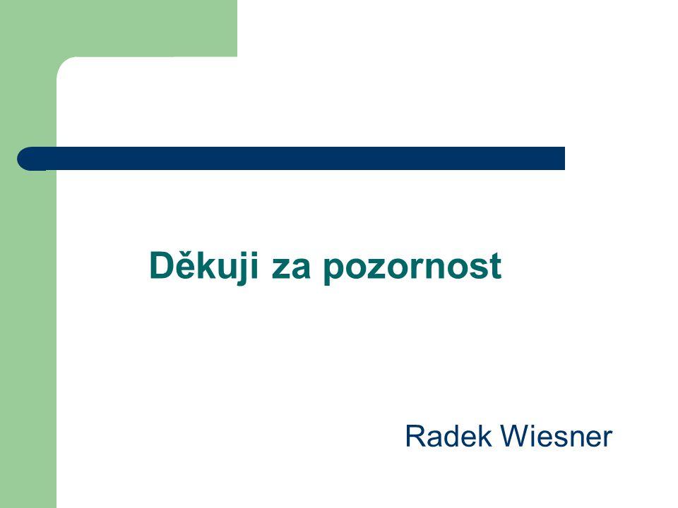 Děkuji za pozornost Radek Wiesner