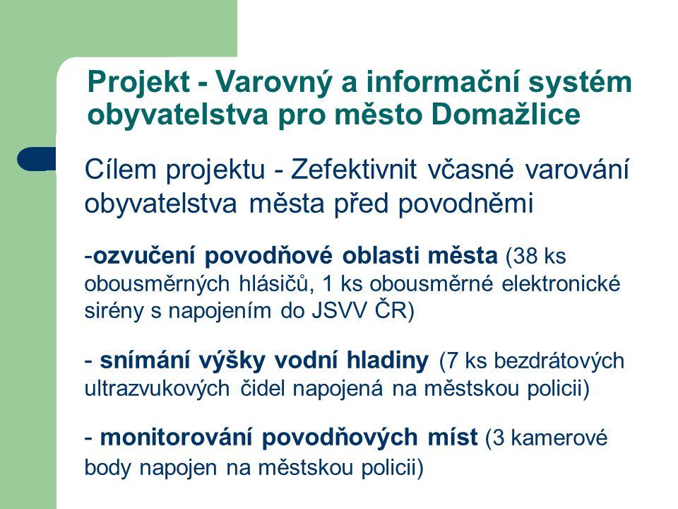 Projekt - Varovný a informační systém obyvatelstva pro město Domažlice