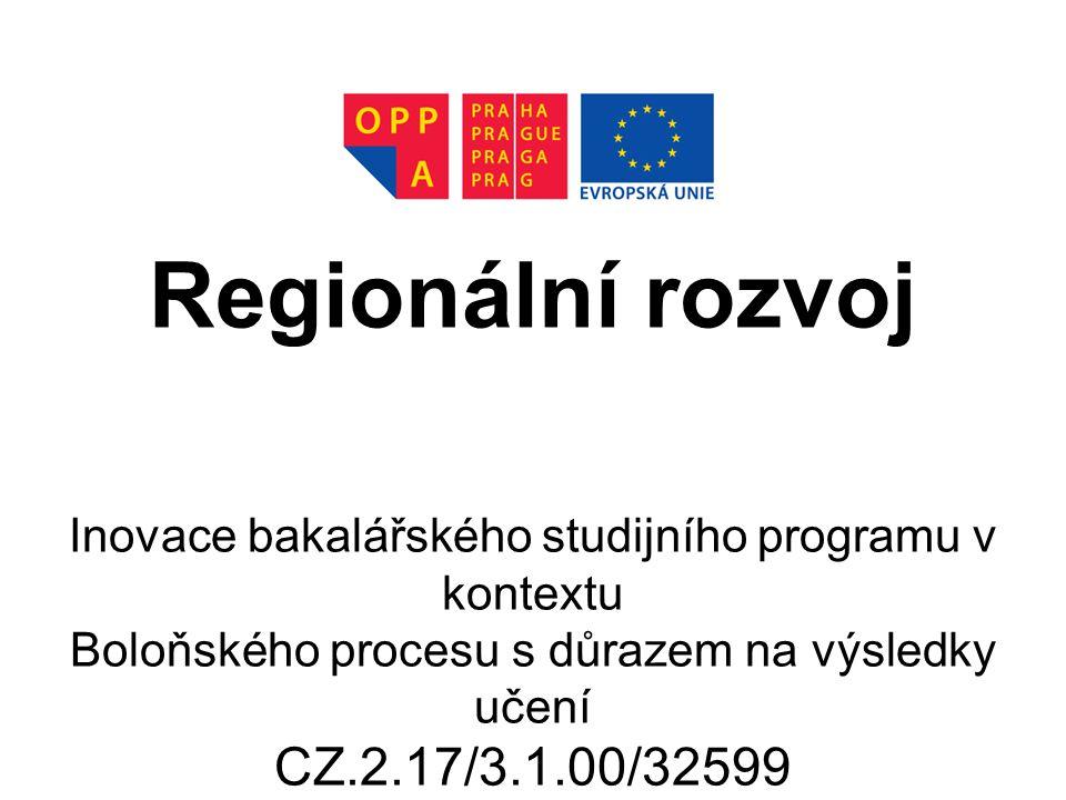 Regionální rozvoj CZ.2.17/3.1.00/32599