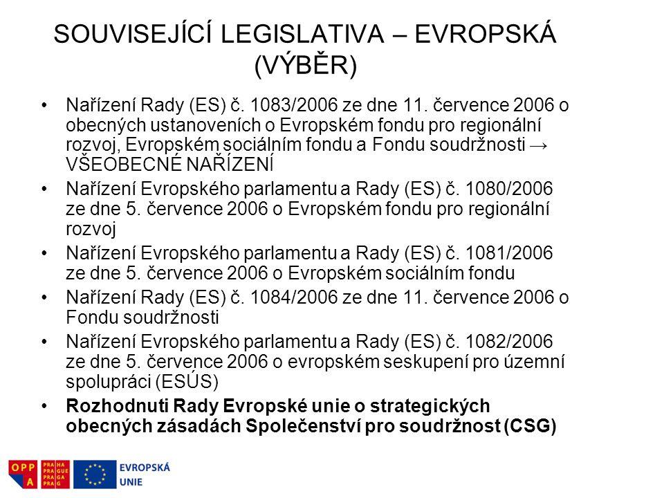 SOUVISEJÍCÍ LEGISLATIVA – EVROPSKÁ (VÝBĚR)